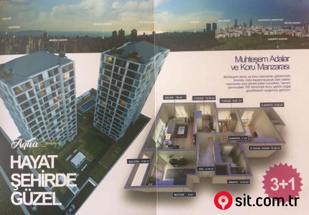 Satılık Emlak - Apartman Dairesi İSTANBUL, KADIKÖY, 19MAYIS MAH. 140 m² 1,315,000